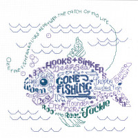 Lets Go fishing Cross stitch chart