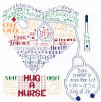 Lets Hug a Nurse Cross Stitch Chart