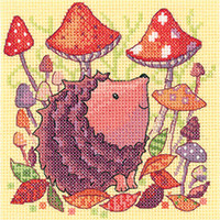 Woodland Creatures - Hedgehog Cross Stitch Kit By Hertitage