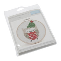 Cross Stitch Kit with Hoop: Owl