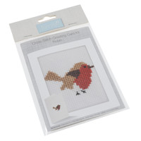 Cross Stitch Kit: Card: Robin