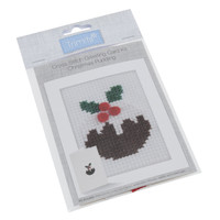 Cross Stitch Kit: Card: Christmas Pudding