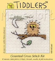Owl Cross Stitch Kit by Mouse Loft