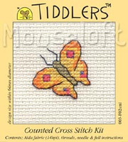 Yellow Butterfly Cross Stitch Kit by Mouse Loft