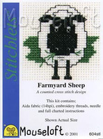 Farmyard Sheep Cross Stitch Kit by Mouse Loft