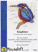 Kingfisher Cross Stitch Kit by Mouse Loft