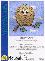 Baby Owl Cross Stitch Kit by Mouse Loft