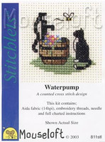Cat at Waterpump Cross Stitch Kit by Mouse Loft