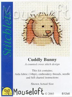 Cuddly Bunny Cross Stitch Kit by Mouse Loft