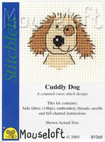 Cuddly Dog Cross Stitch Kit by Mouse Loft