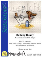 Bathing Bunny Cross Stitch Kit by Mouse Loft