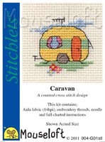 Caravan Cross Stitch Kit by Mouse Loft