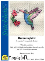 Hummingbird Cross Stitch Kit by Mouse Loft