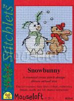 Snowbunny Cross Stitch Kit by Mouse Loft