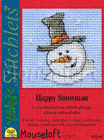 Happy Snowman Cross Stitch Kit by Mouse Loft