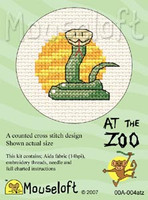 Snake Cross Stitch Kit by Mouse Loft