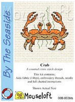 Crab Cross Stitch Kit by Mouse Loft
