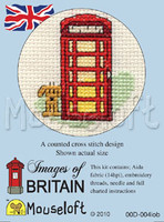 Red Telephone Box Cross Stitch Kit by Mouse Loft