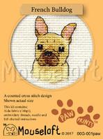 French Bulldog Cross Stitch Kit by Mouse Loft