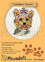 Yorkshire Terrier Cross Stitch Kit by Mouse Loft