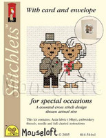 Bride And Groom Cross Stitch Kit by Mouse Loft