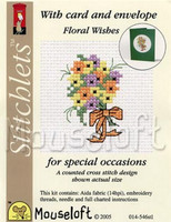 Floral Wishes Cross Stitch Kit by Mouse Loft
