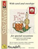 Have A Pint Cross Stitch Kit by Mouse Loft