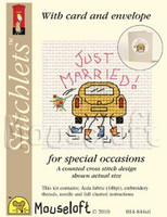 Just Married Cross Stitch Kit by Mouse Loft