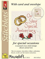 Special Anniversary Cross Stitch Kit by Mouse Loft