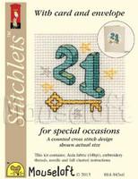 Twenty One Cross Stitch Kit by Mouse Loft