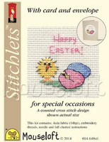 Easter Chick & Eggs Cross Stitch Kit by Mouse Loft