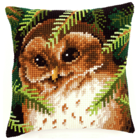 Owl Chunky Cross Stitch Cushion By Vervaco