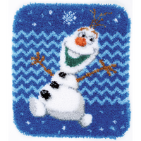Disney: Olaf Shaped Latch Hook Rug Kit By Vervaco