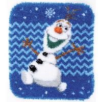 Disney: Olaf Shaped Latch Hook Rug Kit By Vervaco