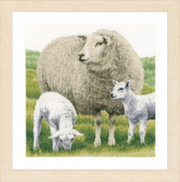 Counted Cross Stitch Kit: Sheep (Evenweave) By Lanarte