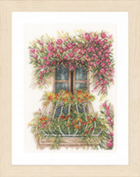 Counted Cross Stitch Kit: Flower Balcony By Lanarte