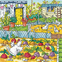 Vegetable Patch Cross Stitch Kit By Heritage