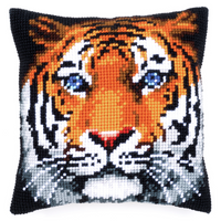 Cross Stitch Kit: Cushion: Tiger By Vervaco