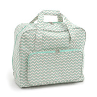 Scribble Chevron: Mint&Gld  Sewing Machine Bag By Hobby Gift