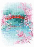 Sakura - Bridge Cross Stitch Kit By Riolis