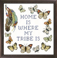 Home Tribe Stamped Cross Stitch Kit By Design Works