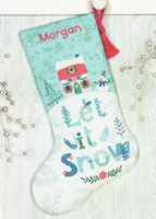 Counted Cross Stitch Kit: Stocking: Holiday Home by Dimensions