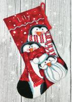 Needlepoint Kit: Stocking: Holiday Penguins