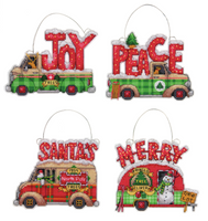 Counted Cross Stitch Kit: Ornament Set: Holiday Truck by dimensions