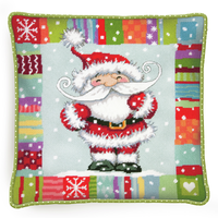 Needlepoint Kit: Cushion: Patterned Santa By Dimensions