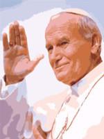 Pope John Paul Waving Canvas By Grafitec