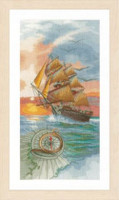 On a discovery Travel Cross Stitch Kit by Lanarte