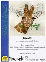 Giraffe Cross Stitch Kit by Mouseloft