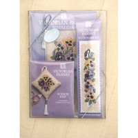 Victorian Panises Cross Stitch Gift Set by Textile Heritage