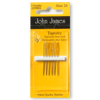 Tapestry Needles Size 18-24 Pack of 6 needles